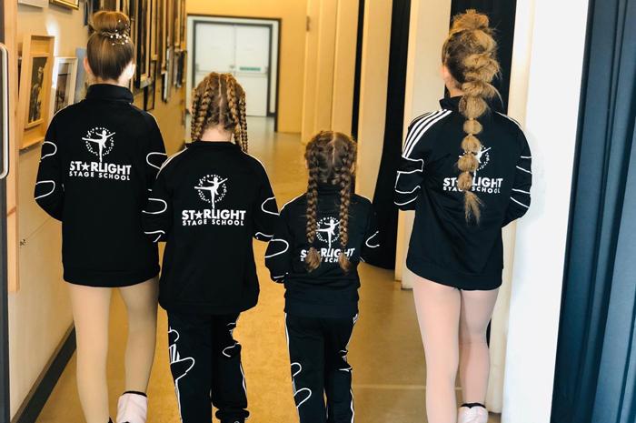 Starlight Girls in their uniforms
